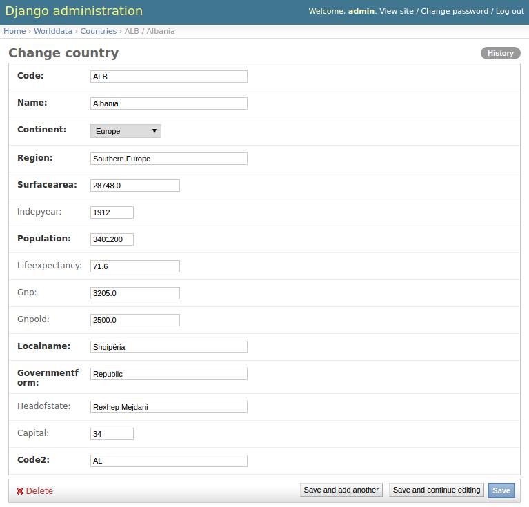 Using Django with an existing legacy database   WZB Data